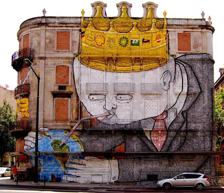 20+ Powerful Street Art Pieces That Tell The Uncomfortable Truth - Εικόνα71