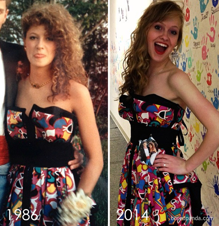 10+ Teens Who Wore Their Moms' Vintage Prom Dresses Decades Later, And Absolutely Killed It - Εικόνα 1