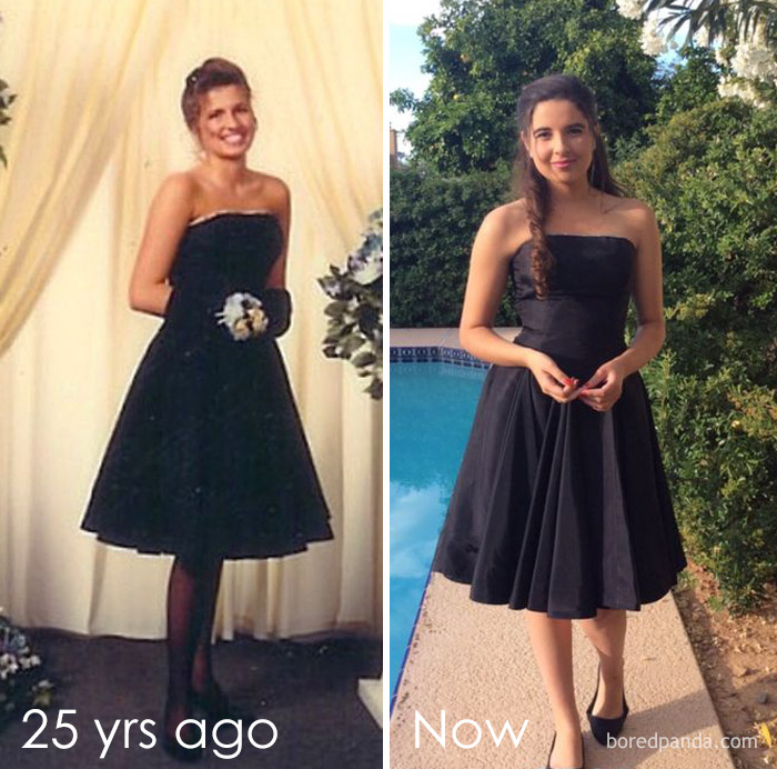 10+ Teens Who Wore Their Moms' Vintage Prom Dresses Decades Later, And Absolutely Killed It - Εικόνα 10