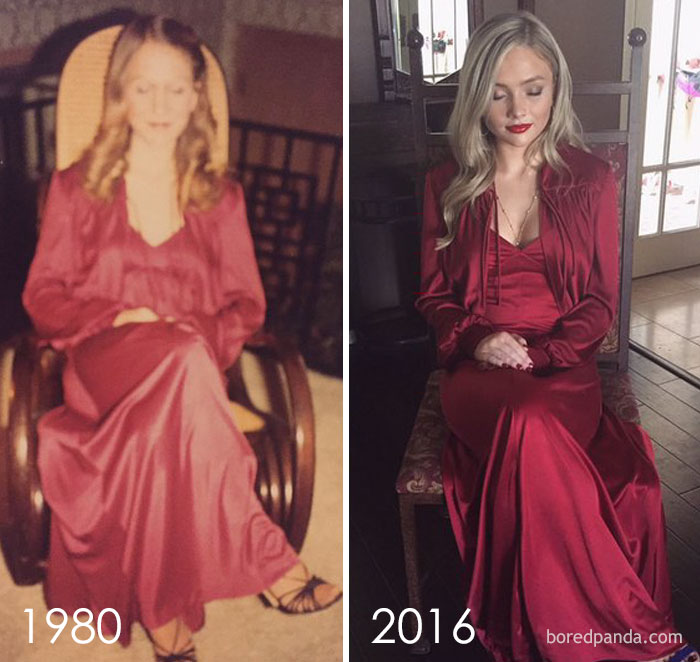 10+ Teens Who Wore Their Moms' Vintage Prom Dresses Decades Later, And Absolutely Killed It - Εικόνα 16