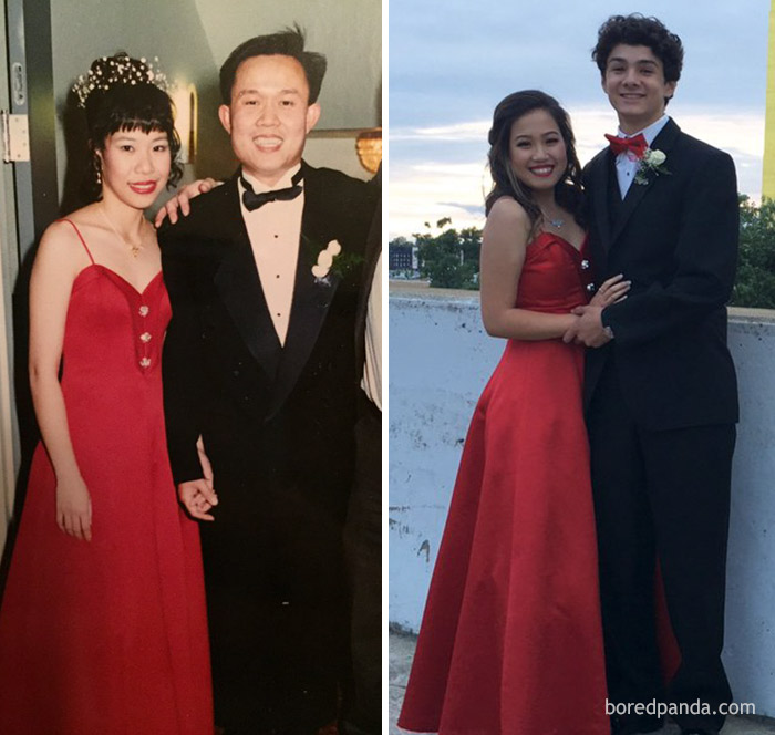 10+ Teens Who Wore Their Moms' Vintage Prom Dresses Decades Later, And Absolutely Killed It - Εικόνα 19