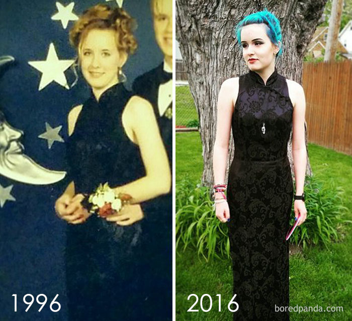 10+ Teens Who Wore Their Moms' Vintage Prom Dresses Decades Later, And Absolutely Killed It - Εικόνα 22
