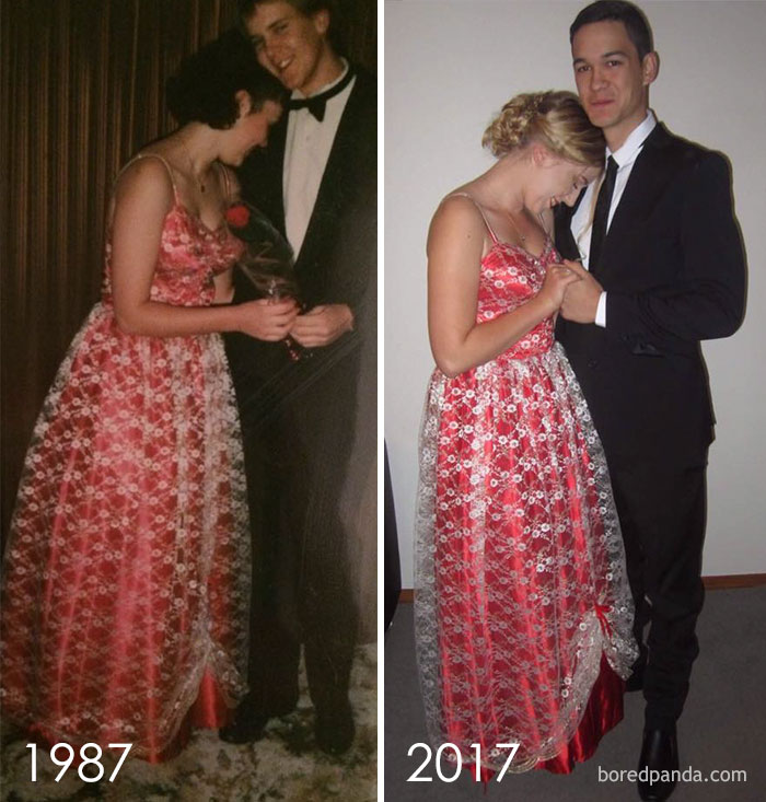 10+ Teens Who Wore Their Moms' Vintage Prom Dresses Decades Later, And Absolutely Killed It - Εικόνα 28